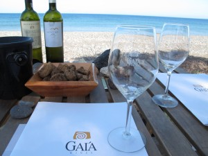 Wine tasting on the beach