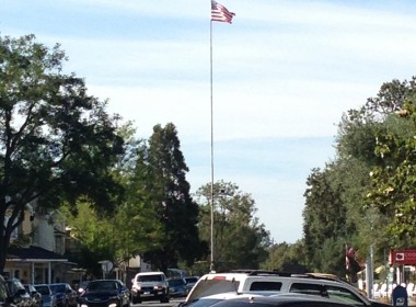 Flagpole.  Center of town.  Los Olivos, CA